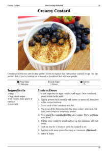 Slow Cooker Custard Page Preview