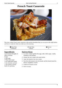 Slow Cooker French Toast Page Preview