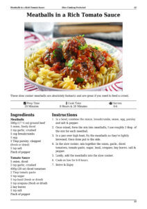 Slow Cooker Meatballs Page Preview