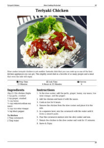 Slow Cooker Teriyaki Chicken Page Preview