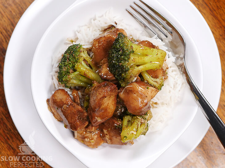 Chicken and Broccoli Served with Rice