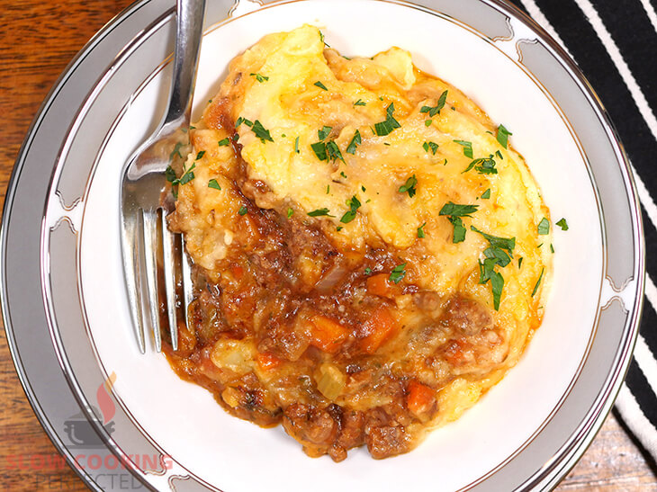 Shepherds Pie cooked in a slow cooker